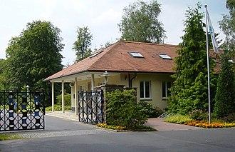 Waldsiedlung - A former entrance gate into Waldsiedlung.