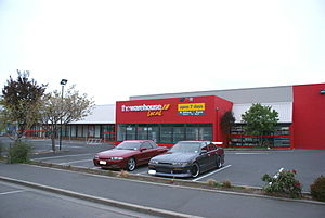 The Warehouse Group - Street view of Mosgiel's Warehouse Local store.