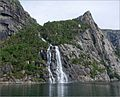 Waterfall on Lysefjorden - Norway - panoramio.jpg