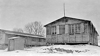 Wauwilermoos internment camp - Wauwilermoos barracks in late 1944