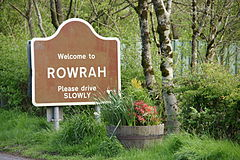 Weclome to Rowrah Please drive SLOWLY.jpg