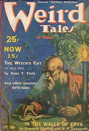 Cover of the pulp magazine Weird Tales (Octobe...