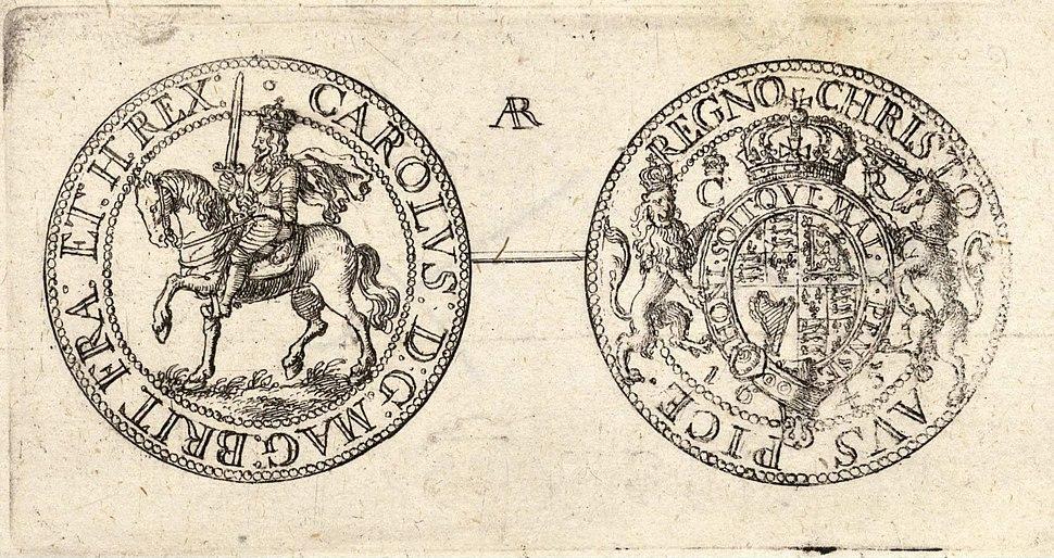 Wenceslas Hollar - Half-crown of Charles I (State 2) 2