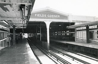Fields Corner station - The 1927-built station in 2004