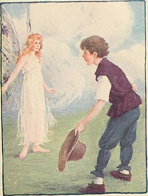 Jack (hero) - Jack meets a fairy in Jack and the Beanstalk