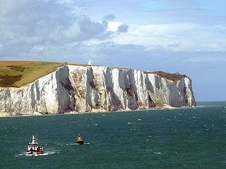 White Cliffs of Dover cliffs forming part of the English coastline