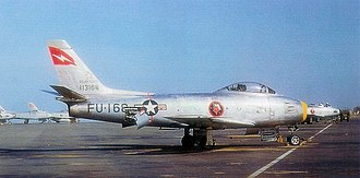Wheelus Air Base - North American F-86F-20-NH Sabre AF Serial No. 51-13168 of the 431st FIS.