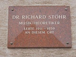 Richard Stöhr Austrian-American composer and educator