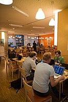 Wikimedia Hackathon Vienna 2017-05-20 Mentoring Area 06.jpg
