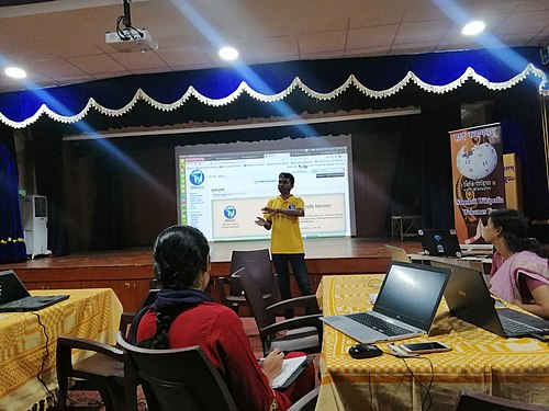 Wikisource and Wikidata training for Sanskrit Wikimedians- day 1.2.jpg