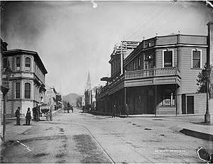 Willis Street - A view of Willis Street from 1883