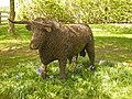 Willow sculptured Bull at Potter Hill Farm - geograph.org.uk - 416026.jpg