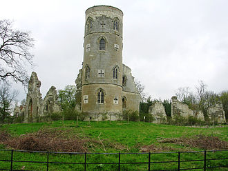 Sanderson Miller - Mock semi-ruined castle designed by Miller, in the grounds of Wimpole Hall