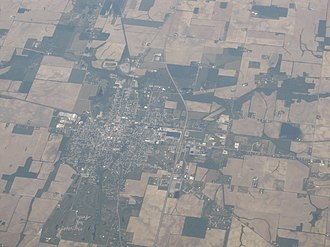 Winchester, Indiana - Image: Winchester, Indiana from the air