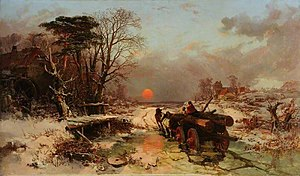 Charles Branwhite - Winter scene by Charles Branwhite, Museums Sheffield