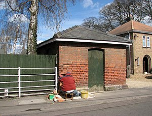 Wisbech and Upwell Tramway - The former office of the Outwell Village depot