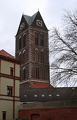 The tower of the church of st mary wismar