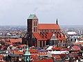 Wismar Georgenkirche Blick auf Nikolaikirche.JPG
