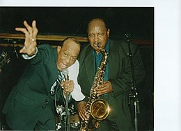With blues shouter Piney Brown, The Netherlands, 2000.jpg