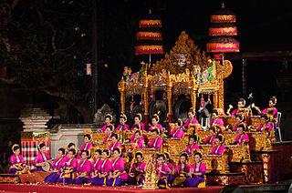 Gamelan gong kebyar Indonesian traditional musical instruments