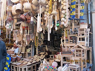 Wooden spoon - Store selling many types of wooden spoons, among other wooden objects, in Istanbul, Turkey.