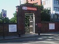 Woodgrange Park stn entrance.JPG