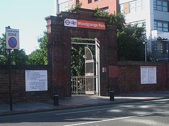 Woodgrange Park railway station - Station entrance