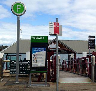 Woolwich ferry wharf Sydney Ferries ferry wharf