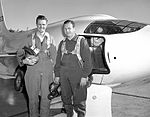 X-1-2 with Pilots Robert Champine Herb Hoover (9460840516).jpg