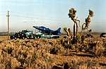 X-29 transported by truck to Dryden Flight Research Center (EC88-221-11).jpg