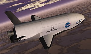 Boeing X-37 - 1999 artist's rendering of the X-37 spacecraft