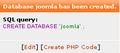 Xampp joomla db created.PNG