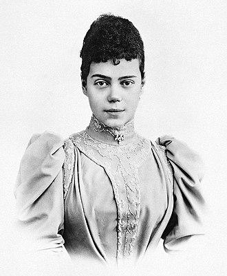Grand Duchess Xenia Alexandrovna of Russia - Xenia Alexandrovna c. 1894