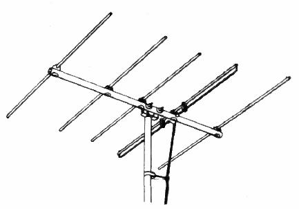 Yagi TV antenna 1954