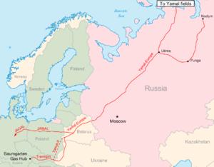 Yamal–Europe pipeline - Image: Yamal europe