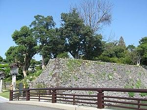 Kumamoto Domain - Stonework at Yatsushiro Castle in Kumamoto