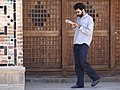 Young Religious Man Reads as He Paces - Jameh Mosque - Qazvin - Northwestern Iran (7418150882) (2).jpg