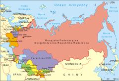 Mapa Związku Socjalistycznych Republik Radzieckich