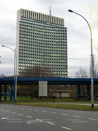 Zagrepčanka - Image: Zagrepčanka tower from west over railroad