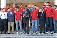 Zapatero with Spanish basketball national team, winner of Eurobasket 2011.jpg