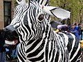 ZebraAndPurpleBird 2005ProcessionOfTheSpecies IMG1344.jpg