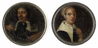 Selvportræt af Johann Philipp Lemke og et portræt af hans hustru