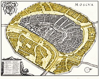 Zemlyanoy Gorod - Image: Zemlianoy gorod plan
