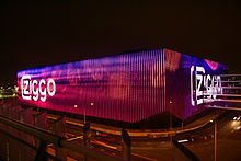 The led lights on the ziggo dome in the amsterdam zuid oost arena area