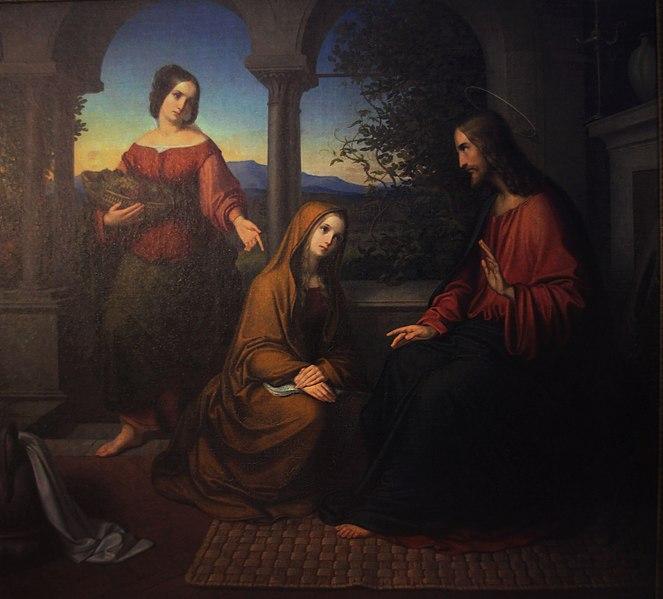 File:Zimmermann Christus bei Maria und Martha.jpg