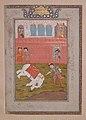 """Rustam Slays the White Elephant"", Folio from a Shahnama (Book of Kings) MET sf68-215-28.jpg"
