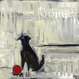 Sheila Cameron (artist) - Cameron's canine portrait Sit was her first painting to be featured on a magazine cover