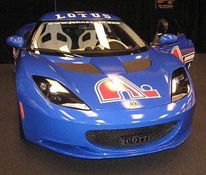 Quebec Nordiques - Quebec Nordiques' logo on a Lotus Evora at the 2011 Montreal International Auto Show