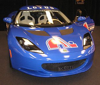 Quebec Nordiques - Quebec Nordiques' logo on a Lotus Evora at the 2011 Montreal International Auto Show