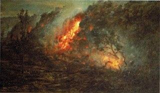 Lava Flow Burning Trees